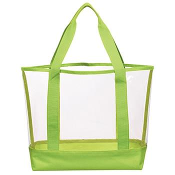 "Clear Casual Tote Bag - Made Of PVC And 600D Polyester | 22"" Handles 