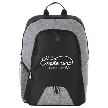 "Pier 15"" Computer Backpack - Open main compartment with 15"" laptop sleeve. Front zippered compartment with custom ear bud port. Colored graphite accents. Padded shoulder straps and grab handle."