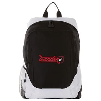 "Ripstop 15"" Computer Backpack - Open main compartment with 15"" laptop sleeve. Front zippered compartment offers custom ear bud port. Padded shoulder straps, side pockets and grab handle."