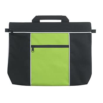 Metro Document Bag - Made Of 600D Polyester | Carrying Handle | Front Zippered Pocket | Spot Clean/Air Dry