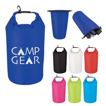 Large Waterproof Dry Bag - Made Of 210T Ripstop Polyester With PVC Backing | 10 Liter | Roll Top Closure With Clip For Snapping | Floats If Dropped In The Water | Perfect For Keeping Your Contents Dry And Safe | Spot Clean/Air Dry