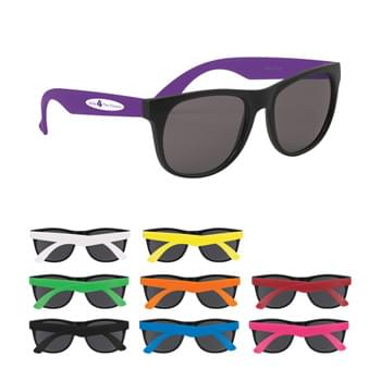 Youth Rubberized Sunglasses - Made Of Polypropylene Material | UV400 Lenses Provide 100% UVA And UVB Protection | Fun For Ages 6+