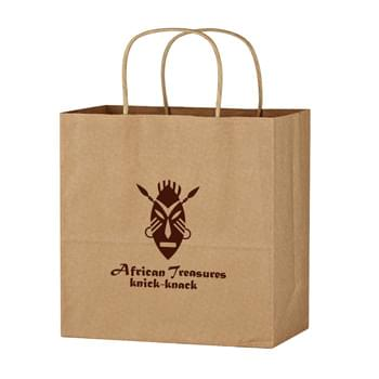 "Kraft Paper Brown Wine Bag - 13"" x 13"" - Made Of Kraft Paper 