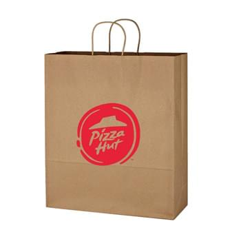 "Kraft Paper Brown Shopping Bag - 16"" x 19"" - Made Of Kraft Paper 