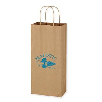 "Kraft Paper Brown Wine Bag - 5.25"" x 13"" - Made Of Kraft Paper 