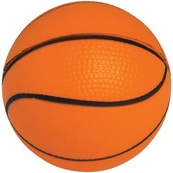 Basketball Shape Stress Reliever - Printed with Dark Ink Only