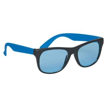 Tinted Lenses Rubberized Sunglasses - Made Of Polycarbonate Material | UV400 Lenses Provide 100% UVA and UVB Protection