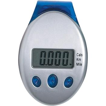 Deluxe Multi-Function Pedometer - Laser Tuned Pendulum Movement | Tri-Function, Large Easy To Read Display | Records From 1 To 99,999 Steps | Counts Steps, Miles, Kilometers And Calories | Molded Clip On Back Belt Attachment