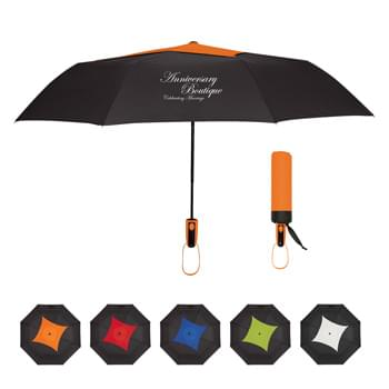 "44"" Arc Telescopic Diamond Top Vented Umbrella - Automatic Open   