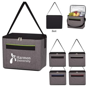 "Heathered Kooler Bag - Made Of 300D Polyester | Foil Laminated PE Foam Insulation | 22"" Web Carrying Handle 