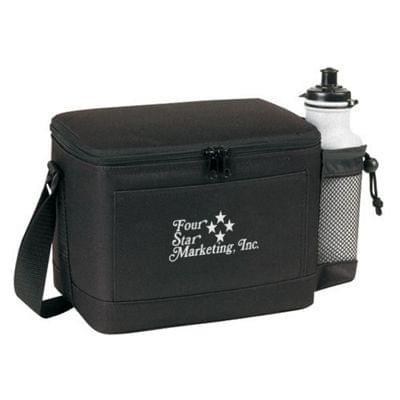 Deluxe Insulated 6-Pack Cooler with Drink Pocket