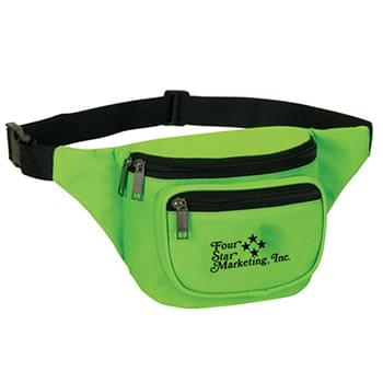 Three Zippered Fanny Pack