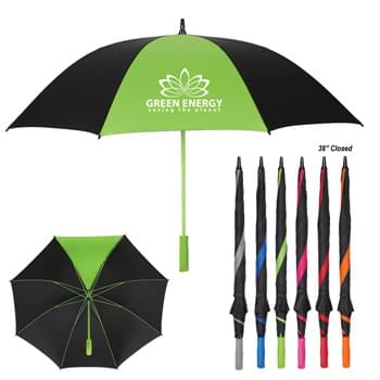 "60"" Arc Splash of Color Golf Umbrella - Manual Open 