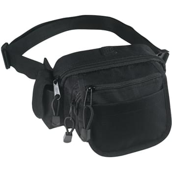 "All-In-One Fanny Pack - Made Of Nylon Ripstop | Inside Mesh Pocket | 3 Zippered Pockets, 1 Front Pocket, And Side Cell Phone Pocket | Padded, Mesh Lined Back | Adjustable Waist Strap | 52"" Maximum Belt Size"