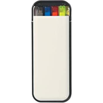 4-In-1 Writing Set - Contains Mechanical Pencil, Yellow Highlighter, And 2 Pens - Red And Blue Ink In Convenient Pocket Case