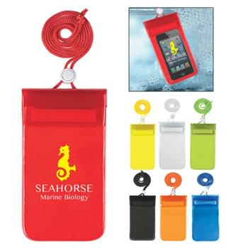 Waterproof Pouch With Neck Cord - Great For The Beach, Boating Or Any Outdoor Water Activity | Adjustable Neck Cord | Triple Zip Lock And Hook And Loop Closure | Fits Most Smartphones | For Use WIth iPhone 6 or 6 Plus, Etc.  | iPhone is a trademark of Apple Inc., registered in the U.S. and other countries.