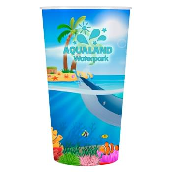 22 Oz. Straight Wall Tyndall Cup - Polypropylene Material   | Vibrant Full Color Graphics   | Made In The USA | Meets FDA Requirements  | BPA Free | EQP Does Not Apply