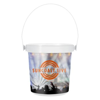 32 Oz. Gulfview Pail With Handle - Polypropylene Material   | Vibrant Full Color Graphics   | Made In The USA  | Meets FDA Requirements   | BPA Free | EQP Does Not Apply