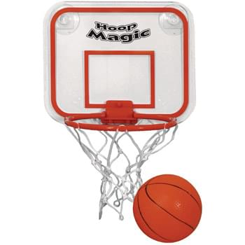 Mini Basketball & Hoop Set - Each Set Includes Pre-Assembled Backboard And Hoop | PVC Basketball And Suction Cups For Mounting