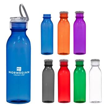 24 Oz. Tritan™ Tiffany Bottle - Durable Tritan™ Material   | Impact And Shatter Resistant   | Screw On, Spill-Resistant Lid  | Silicone Easy Carry Handle  | Wide Mouth Opening  | Meets FDA Requirements   | BPA Free   | Hand Wash Recommended