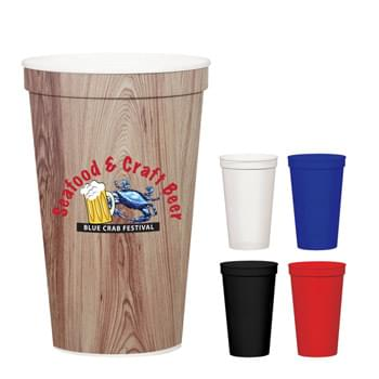 22 Oz. Full Color Stadium Cup - BPA Free | Meets FDA Requirements | Hand Wash Recommended | EQP Pricing Does Not Apply to This Item