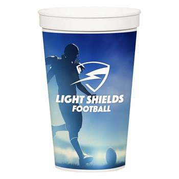 32 Oz. Full Color Stadium Cup - BPA Free | Meets FDA Requirements | Hand Wash Recommended | EQP Pricing Does Not Apply to This Item