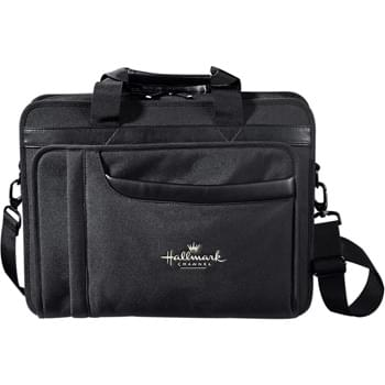 "Paragon Compu-Brief - Full front organizer and file dividers for accessories and documents. Padded computer compartment (holds a 17"" laptop). Detachable, adjustable shoulder strap."