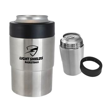 Stainless Steel Insulated Can Holder - Made Of Stainless Steel | Vacuum Insulated Sweat-Proof Design | Double Wall Construction For Insulation Of Cold Beverages For Hours | Fits Most 12 Oz. Cans, Standard Bottles And Automotive Drink Holders | This Item Is Intended To Hold Cans. Do Not Fill Directly With Liquid. | Perfect For Outdoor Activities | Hand Wash Recommended