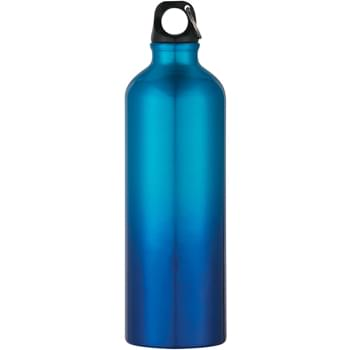 - 25 Oz. Gradient Aluminum Bike Bottle - Screw On, Spill-Resistant Lid | Comes With Split Ring | Meets FDA Requirements | BPA Free | Hand Wash Recommended