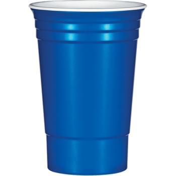 The Cup™ - Made From Tri-Edge™ Polypropylene Material | Holds 16 OZ. | Sturdy And Reusable | Great For Tailgating, Parties And Company Picnics | Made In The USA | Double Wall Insulated | Meets FDA Requirements | BPA Free | Hand Wash Recommended