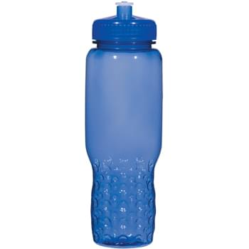 32 Oz. Hydroclean™ Sports Bottle With Groove Grippers - BPA Free | Meets FDA Requirements | Made In The USA | Hand Wash Recommended | Leak-Resistant Push Pull Lid | Fits In Most Auto Cup Holders | Not For Hot Liquid Use