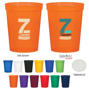 16 Oz. Stadium Cup - Meets FDA Requirements | Made With Up To 25% Post-Industrial Recycled Polypropylene Material | BPA Free | Made In The USA | Hand Wash Recommended
