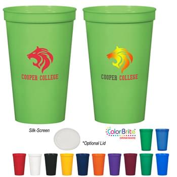 22 Oz. Stadium Cup - Meets FDA Requirements | Made With Up To 25% Post-Industrial Recycled Polypropylene Material | BPA Free | Made In The USA | Hand Wash Recommended