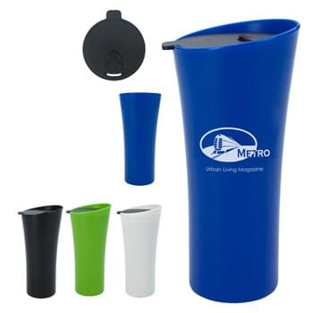 18 Oz. Chic Tumbler - Double Wall Construction For Insulation Of Hot Or Cold Liquids | Spill-Resistant Thumb-Slide Lid | Fits Most Automotive Drink Holders | Meets FDA Requirements | BPA Free | Hand Wash Recommended