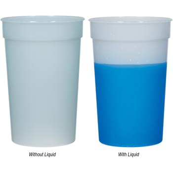 22 Oz. Mood Stadium Cup - Cup Changes Color When Ice-Cold Beverages Are Added   | Sturdy And Reusable   | Made In The USA   | Meets FDA Requirements   | BPA Free   | Hand Wash Recommended