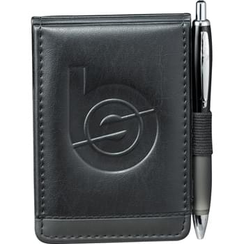 "Scripto® Jotter - Business card holder. Elastic pen loop. Includes 3"" x 4.75"" Scripto® writing pad.  (pen not included)  Refills available www.leedsworldrefill.com  Refill item number 6091-66RF"
