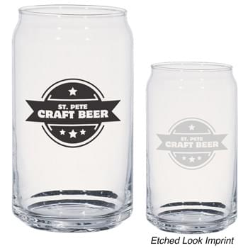 16 Oz. Ale Glass Can - Eye-Catching Can Shape Glass | Made In The USA | Meets FDA Requirements | Hand Wash Recommended
