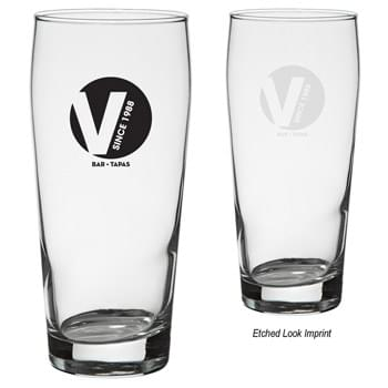16 Oz. Pub Glass - Curvy Easy-To-Grip Shape | Chip-Resistant Rolled Rim | Perfect For Restaurants, Bars And More! | Meets FDA Requirements  | Hand Wash Recommended