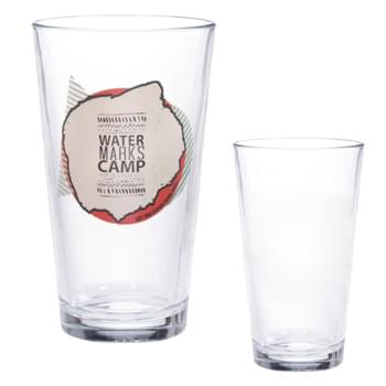 16 Oz. 4-Color Process Pint Glass - Highest Standard Glass Material  | Safe Edge Rim & Foot Guarantee  | Rounded Design And Chip-Resistant Rolled Rim   | Pub Glass With Clear Thick Wall | Perfect For Restaurants, Bars And More!
