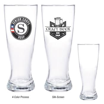 20 Oz. Pilsner Glass - Highest Standard Glass Material  | Clear Hourglass-Shaped Beer Glass Design With Thick Base | Made In The USA  | Perfect For Restaurants, Bars And More!