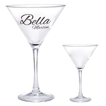 10 Oz. Martini Glass - Highest Standard Glass Material  | Slender Long-Stem Hold And Sheer Rim  | Clear Glass V-Shaped Design | Made In The USA  | Perfect For Restaurants, Bars And More!