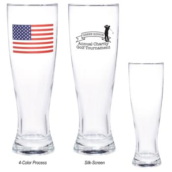 16 Oz. Pilsner Glass - Highest Standard Glass Material | Clear Hourglass-Shaped Beer Glass Design With Thick Base | Made In The USA  | Perfect For Restaurants, Bars And More!