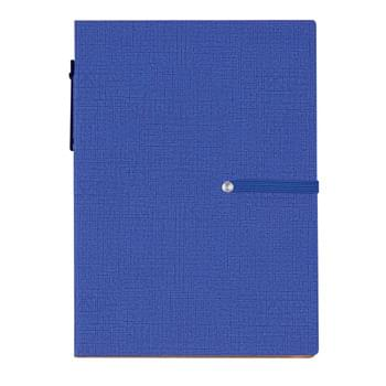 Notebook With Sticky Notes And Matching Pen - CLOSEOUT! Please call to confirm inventory available prior to placing your order!<br />Pen Has Paper Barrel | Sticky Notepads In 2 Sizes | Sticky Flags In 4 Neon Colors | 70 Page Lined Notebook | Polyurethane Cover