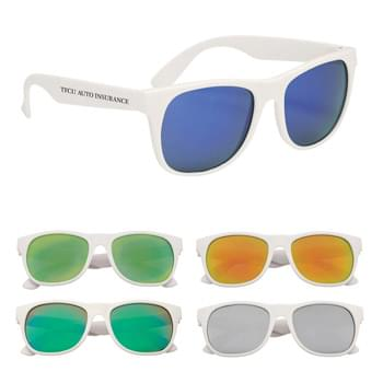 Rubberized Mirrored Malibu Sunglasses - UV400 Lenses Provide 100% UVA And UVB Protection | Mirrored Lenses