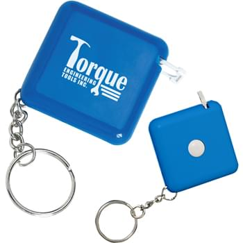 "Tape-A-Matic Key Tag - 40"" Cloth Tape With Metric/Inch Scale 
