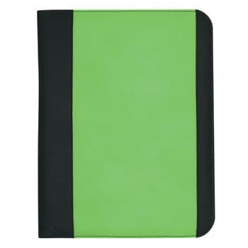 "Non-Woven Large Padfolio - Made Of 80 Gram Non-Woven, Coated Water-Resistant Polypropylene | 30 Page Lined 8 ½"" x 11"" Writing Pad 