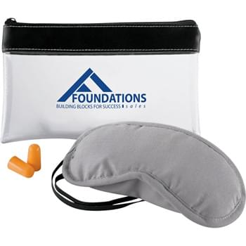 "Aero-Snooze (Travel Kit) - Take the red out of ""redeye"" flights. Three-piece set includes TSA-compliant carrying pouch with soft nylon eye mask and foam earplugs to help travelers drift off to sleep."