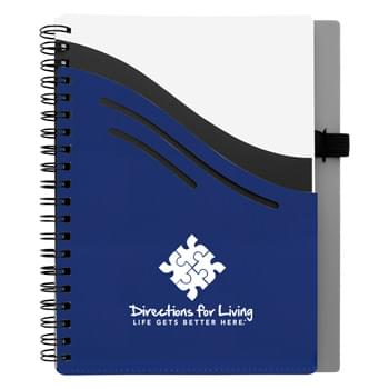 "5"" x 7"" Double Dip Spiral Notebook - 70 Page Lined Notebook 