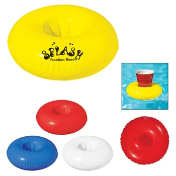 Inflatable Beverage Float - Great For The Pool  |  Holds Standard Size Cups, Cans Or Bottles