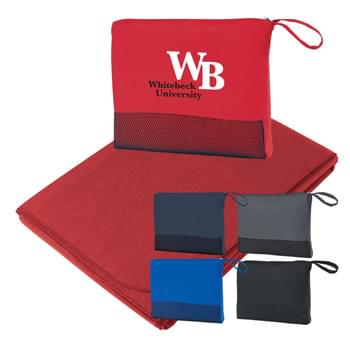 "Travel Blanket - Large 47"" x 60"" 100% Polyester 